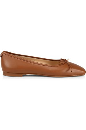 Jimmy Choo Women Ballerinas - Women's Shay Leather Ballet Flats - Tan - Size 9.5