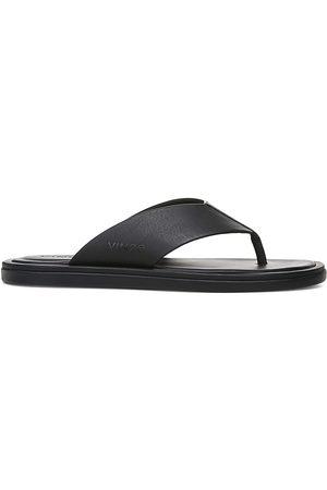 Vince Men's Dean Leather Flat Thong Sandals - - Size 9