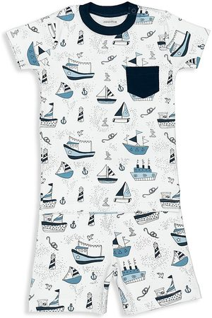 Baby Noomie Boys Sets - Little Boy's 2-Piece Boat Short Pajama Set - Size 2