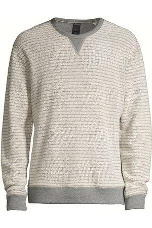 Rails Men's Heston Stripe Regular-Fit Sweatshirt - Heather Grey - Size XXL