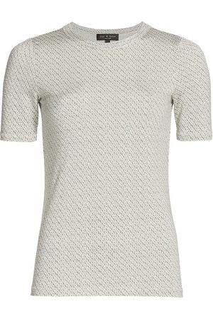 RAG&BONE Women Sports T-shirts - Women's Sabeen Slim-Fit T-Shirt - Multi - Size Small