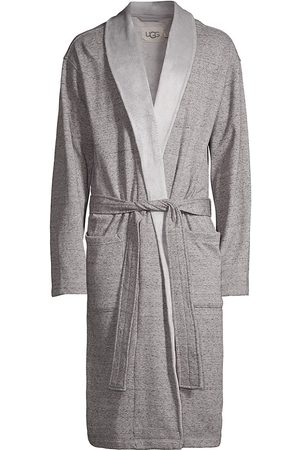 UGG Men Bathrobes - Men's Heritage Comfort Robinson Double-Knit Robe - Grey Heather - Size Large