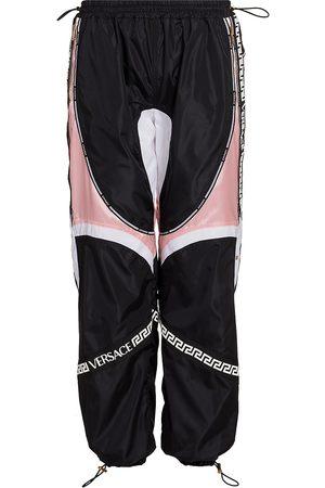 VERSACE Women's Colorblock Logo Track Pants - - Size 14