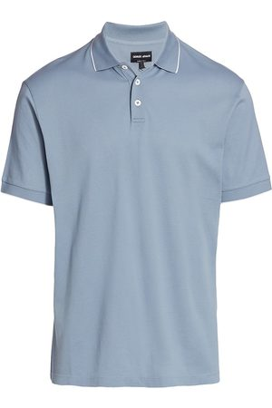 Armani Men Polo Shirts - Men's Polo Shirt - Grey - Size 46