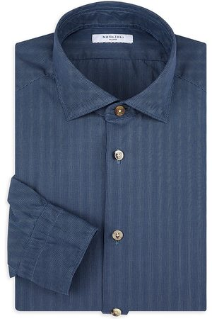 Boglioli Men Tops - Men's Micro-Check Sport Shirt - Postal - Size 18