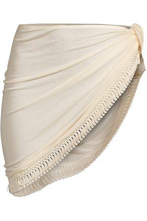 WeWoreWhat Women's Tassel Sarong - Nude - Size XL