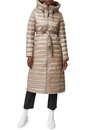 Mackage Women's Portia Hooded Sateen Down Coat - Sand - Size XL