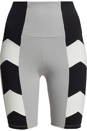 Port De Bras Women's Arrow Biker Shorts - Polar Chantilly - Size Large