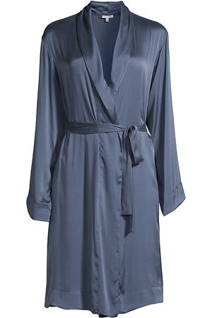 SKIN Women's Tina Silk-Satin Robe - Flat Iron - Size XS