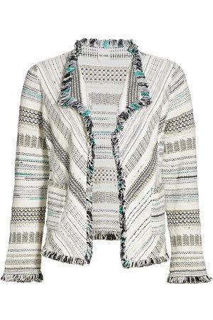 NIC+ZOE Women Sweaters - Women's Midweight Sweater Jacket - Multi - Size Medium