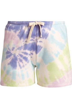 Electric & Rose Women Sports Shorts - Women's Charlize Tie-Dye Shorts - Opal Lavender Glow - Size XL