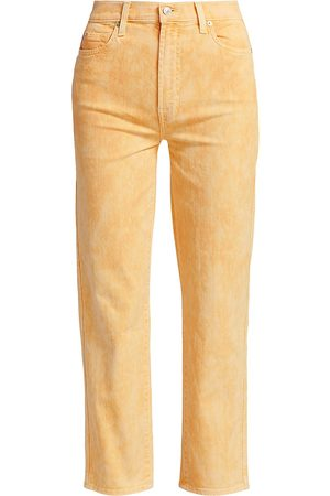 7 for all Mankind Women's High-Rise Cropped Straight Jeans - Mineral Marigold - Size 30