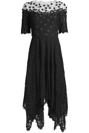 Shani Women's Floral Applique Lace A-Line Dress - - Size 8