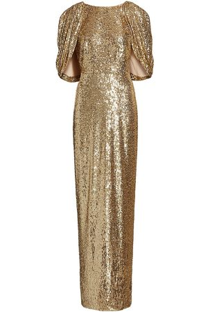 Pamella Roland Women's Sequin-Embellished Cape Gown - - Size 8