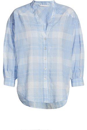 VERONICA BEARD Women Denim - Women's Harris Tie-Dye Shirt - Sky - Size XS
