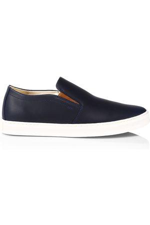sorel Men's Caribou Mod Slip-on Leather Sneakers - Victoria Navy - Size 8.5