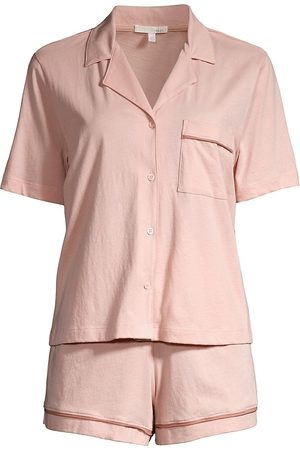 SKIN Women Pajamas - Women's Celina 2-Piece Short Pajama Set - Dusty - Size XL