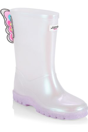 SOPHIA WEBSTER Little Girl's & Girl's Unicorn Welly Rain Boots - Pearl - Size 11 (Child)