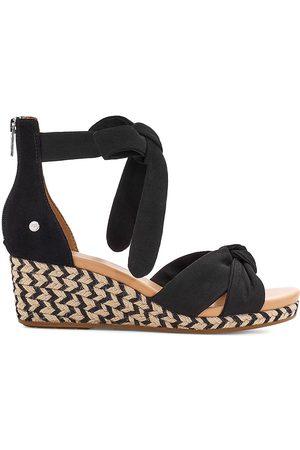 UGG Women Wedges - Women's Yarrow Suede Espadrille Wedge Sandals - - Size 7