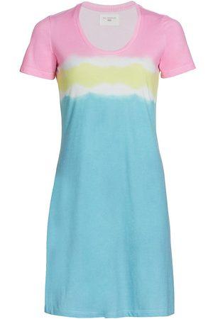 SOL ANGELES Women Casual Dresses - Women's Colorblock Scoopneck T-Shirt Dress - Color Block - Size Small