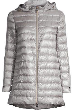 HERNO Women's Classic Puffer Down Jacket - Grigio - Size 4
