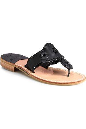 Jack Rogers Women's Jacks Leather Thong Sandals - Pat - Size 8.5
