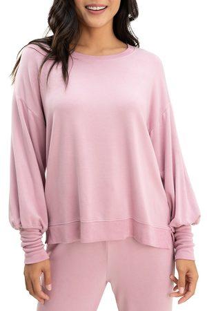 Splendid Women's Flora Flounce Sweatshirt - Mauve - Size Large