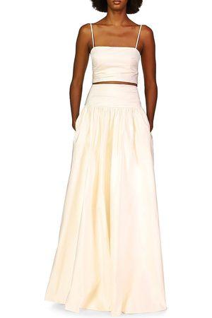 THEIA Women's Amelia Crop Top - Ivory - Size 14