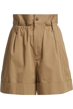 Moncler Women's Paperbag Shorts - Khaki - Size 10