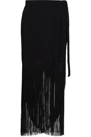 No Pise La Grama Women Midi Skirts - Women's Costamar Fringe Skirt - - Size 10