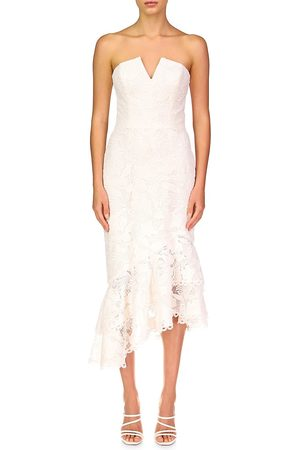 THEIA Women Strapless Dresses - Women's Mila Strapless Dress - Ivory - Size 0