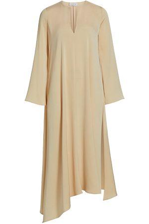 Halston Heritage Women's Elle Crepe Dress - Linen - Size XS