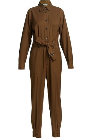 Max Mara Women Jumpsuits - Women's Dakar Belted Jumpsuit - Tobacco - Size 2