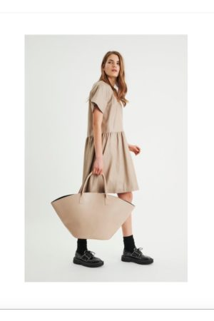 INWEAR Akay leather dress SAND