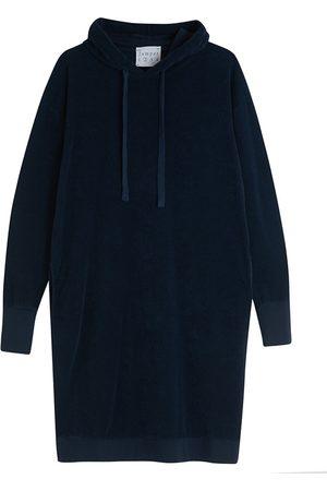 JUMPER 1234 1234 Navy Terry Hooded Dress