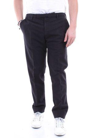 Incotex MEN'S 1AGW3040539ANTRACITE GREY LEATHER PANTS