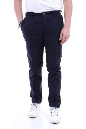 Incotex MEN'S 12S10040611BLU LEATHER PANTS