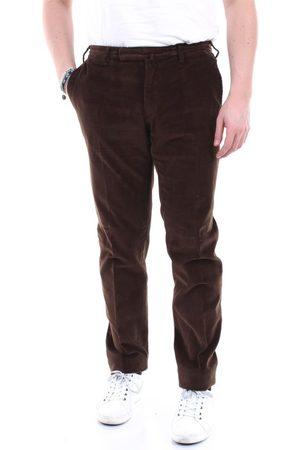 Incotex MEN'S 1GWT30S3756MARRONE LEATHER PANTS