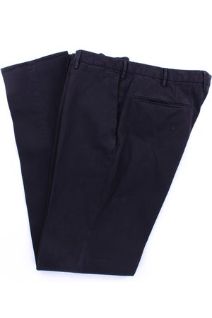 Incotex MEN'S 1AGW304290YBLUNOTTE LEATHER PANTS