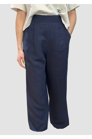 Emin + Paul Double Dart Trouser Navy