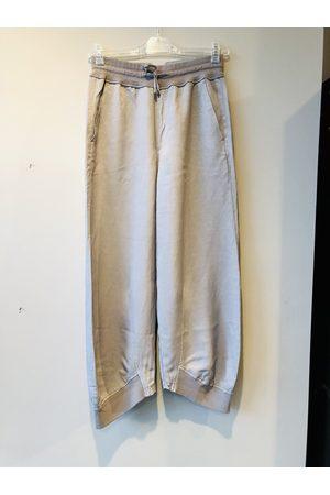 European Culture Wide Leg Tracksuit Pants