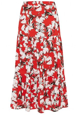 Ichi Women Maxi Skirts - Marrakech Maxi Skirt - Poinciana
