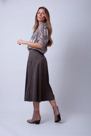 Rino and Pelle Rino & Pelle - Ranomi Faux Suede Circle Skirt