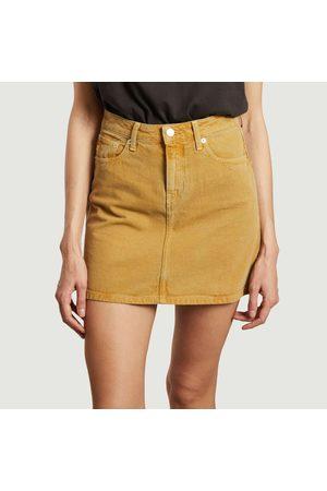 MUD Jeans Sophie Rocks tinted denim short skirt Corn