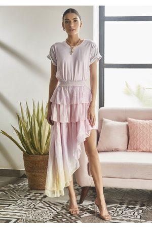 ROCOCO SAND Dip Dye Lurex Skirt
