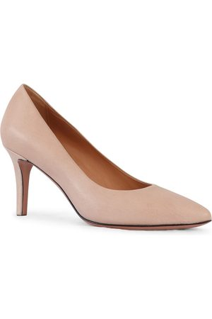 Aristocrat Mid Heel Leather Court Shoe