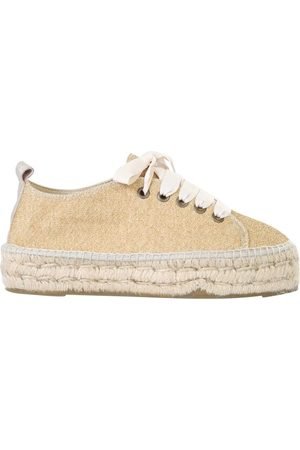 MANEBI MANEB WOMEN'S F42E0LUREXGOLDLIGHT LEATHER ESPADRILLES