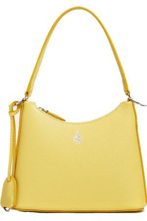 MARK CROSS Lemon Murphy Zip Mini Hobo Leather Bag