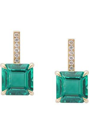 Yi Collection Emerald & Diamond Pave Awakening Earrings