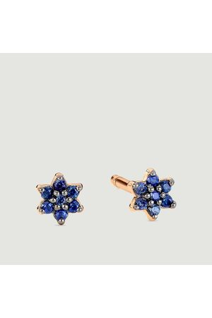GINETTE NY Mini Star rose and sapphire stud earrings Pink